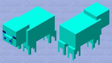 ice  pig Minecraft Mob Skin