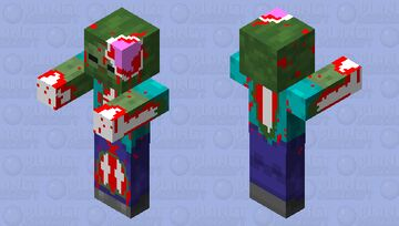 MINECRAFT MUST CHANGE THE ZOMBIE TEXTURE TO THIS! Minecraft Mob Skin