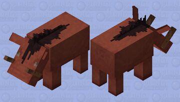 Bloodthirsty Hoglin (𝕱𝖔𝖗𝖇𝖎𝖉𝖉𝖊𝖓 𝕾𝖔𝖚𝖑𝖘) Minecraft Mob Skin
