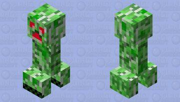 Red eyes creeper Minecraft Mob Skin