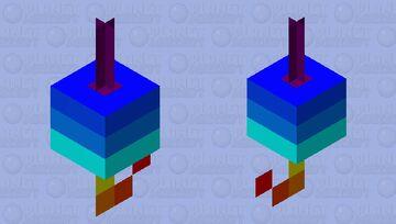 rainbow 🌈 fishing hook Minecraft Mob Skin