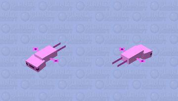 flying axolotl Minecraft Mob Skin