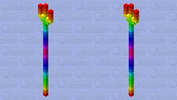 Rainbow Trident Minecraft Mob Skin