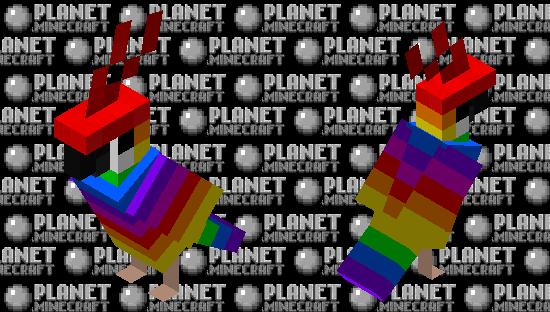 some rainbow parrot Minecraft Skin