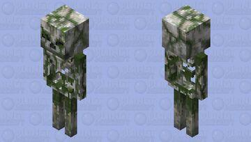 Overgrown Skeleton HD Minecraft Mob Skin