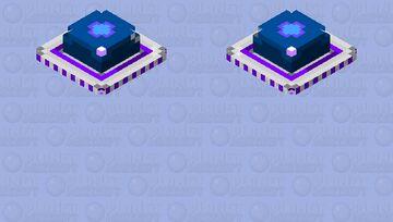 Purple Retro UFO [ No landing Gear] Minecraft Mob Skin
