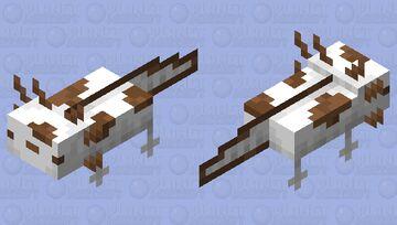Chocolate Cowprint Axolotl Minecraft Mob Skin