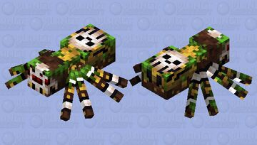 Jungle Spider Minecraft Mob Skin