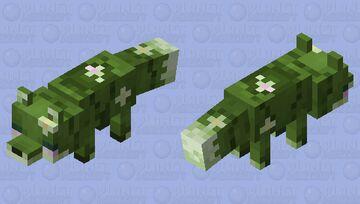 Lilypad Swamp Fox Minecraft Mob Skin