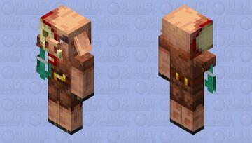 1.19 Warped pillager(Warped forest guardian) Minecraft Mob Skin