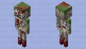 Minecraft Dungeons: Red Armored Sunken Skeleton Minecraft Mob Skin