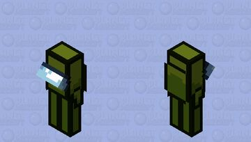 Among us Olive / crewmate / low resolution / remade Minecraft Mob Skin