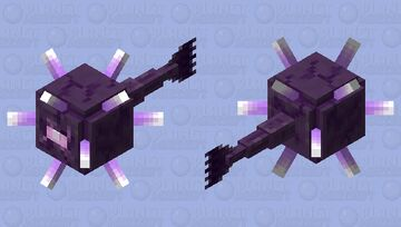 """Guardian Ancient of the deep / not HD / or baby / from the new dungeons DLC """"Hidden Depths"""" Minecraft Mob Skin"""