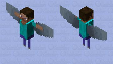 Small Flying Steve Minecraft Mob Skin