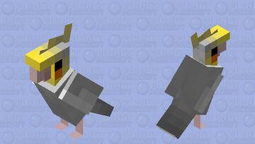 Silver Cockatiel Minecraft Mob Skin