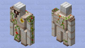 flower golem / golem floral Minecraft Mob Skin