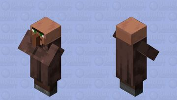 I hit the villagers head with a frying pan Minecraft Mob Skin