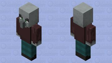 Big angry Villager Minecraft Mob Skin