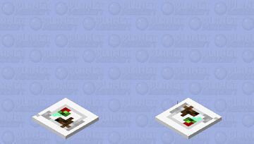 food (salad and meat) Minecraft Mob Skin