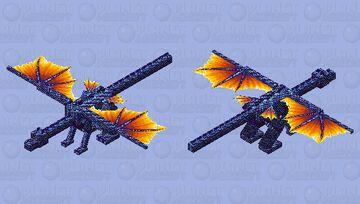 Cute dragoness Minecraft Mob Skin