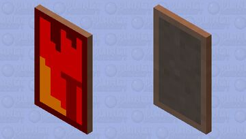 the nether pixel art Minecraft Mob Skin