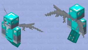 Vex with diamond armor Minecraft Mob Skin