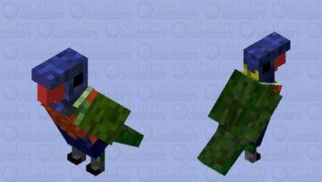 Trichoglossus haematodus Minecraft Mob Skin