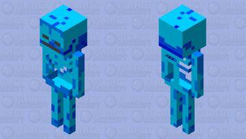 squelette d'eau Minecraft Mob Skin