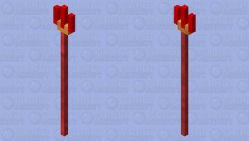 Red Trident / Trident Of Hades Minecraft Mob Skin