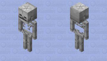Skeleton Stand Minecraft Mob Skin