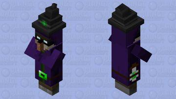 Dark magic witch Minecraft Mob Skin