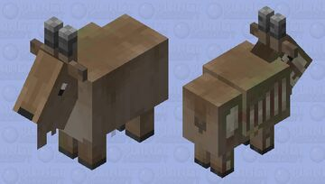Balearic Islands cave goat (Myotragus) - For the Prehistoric Mob skin Contest Minecraft Mob Skin