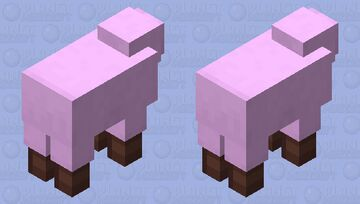 Just a cute sheep with boots Minecraft Mob Skin