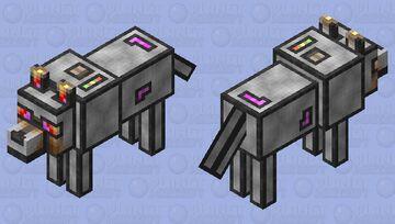 Furnace Wolf Minecraft Mob Skin