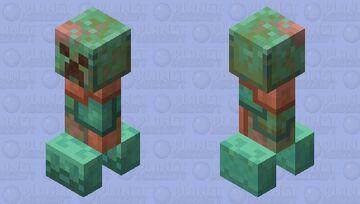 Copper Creeper Minecraft Mob Skin