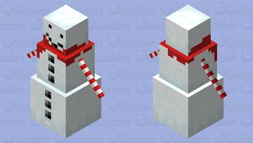 The truly better snowman with candy cane hands. Minecraft Mob Skin