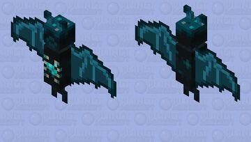 The Sculk Bat (Remade) (Deactived) Minecraft Mob Skin