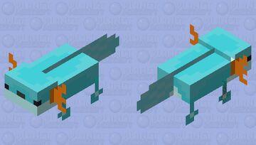 Axolotl But mudkip Minecraft Mob Skin