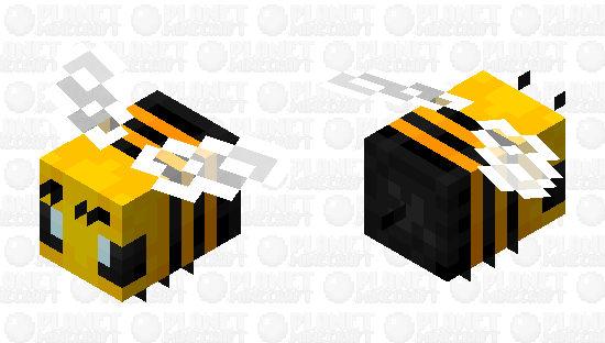 A more vibrant bee Minecraft Skin
