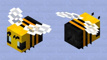 A more vibrant bee Minecraft Mob Skin