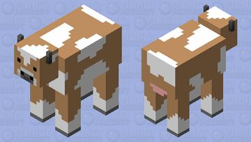 Simple Brown Cow Minecraft Mob Skin