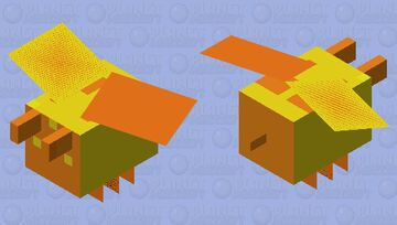 the honey covered bee Minecraft Mob Skin