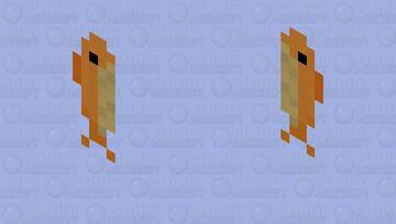 Orange April Fool Cape Minecraft Mob Skin
