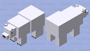 Crossy Road- Polar Bear Minecraft Mob Skin