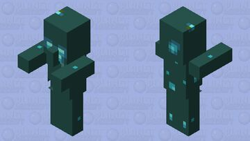 Drowned Villager (Layer 1) Minecraft Mob Skin