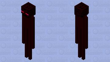 Red Enderman Minecraft Mob Skin