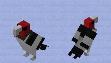 Pica-pau-de-cabeça-vermelha (Melanerpes erythrocephalus) Minecraft Mob Skin