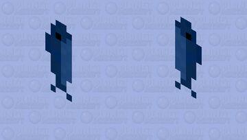 Blue April Fools Fish Cape Minecraft Mob Skin