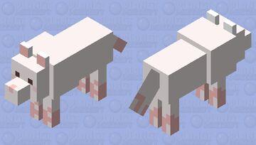 Cute simple pastel wolf Minecraft Mob Skin