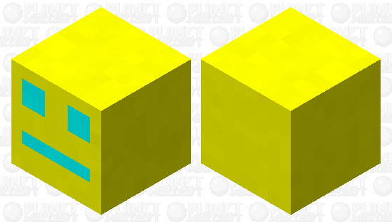 geometry dash cube Minecraft Skin